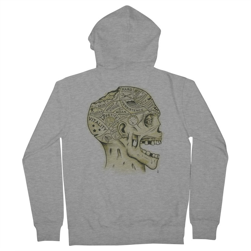 Zombie Phrenology Women's Zip-Up Hoody by Andy Pitts Artist Shop