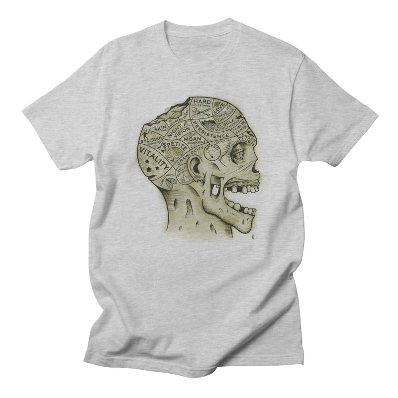 Zombie Phrenology Men's T-shirt by Andy Pitts Artist Shop