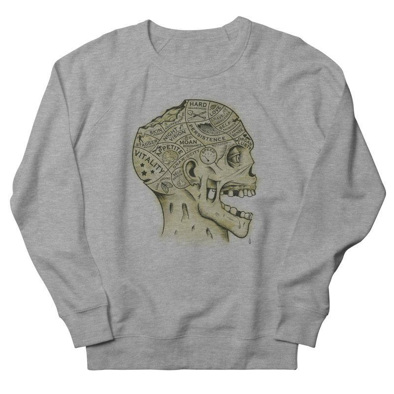 Zombie Phrenology Men's Sweatshirt by Andy Pitts Artist Shop