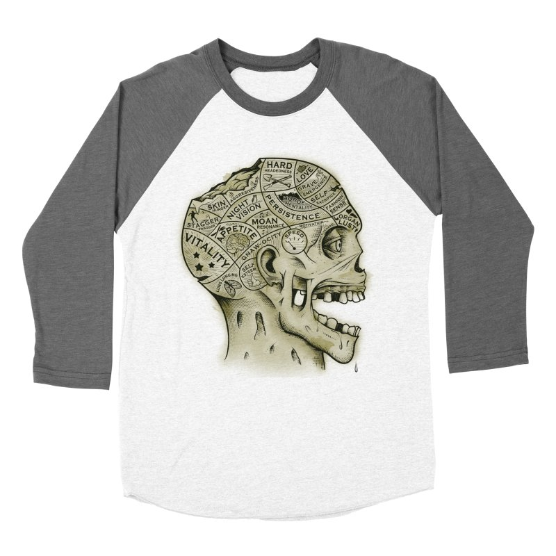 Zombie Phrenology Women's Baseball Triblend T-Shirt by Andy Pitts Artist Shop