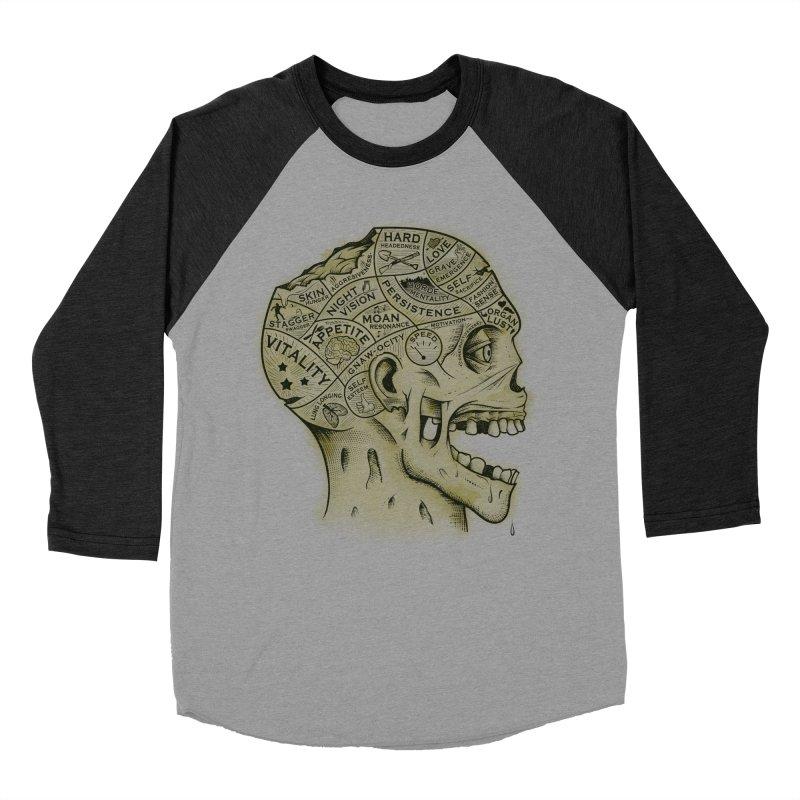 Zombie Phrenology Men's Baseball Triblend T-Shirt by Andy Pitts Artist Shop