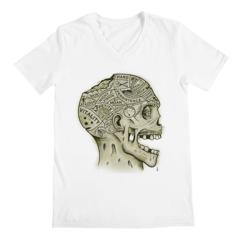 Zombie Phrenology Men's V-Neck by Andy Pitts Artist Shop