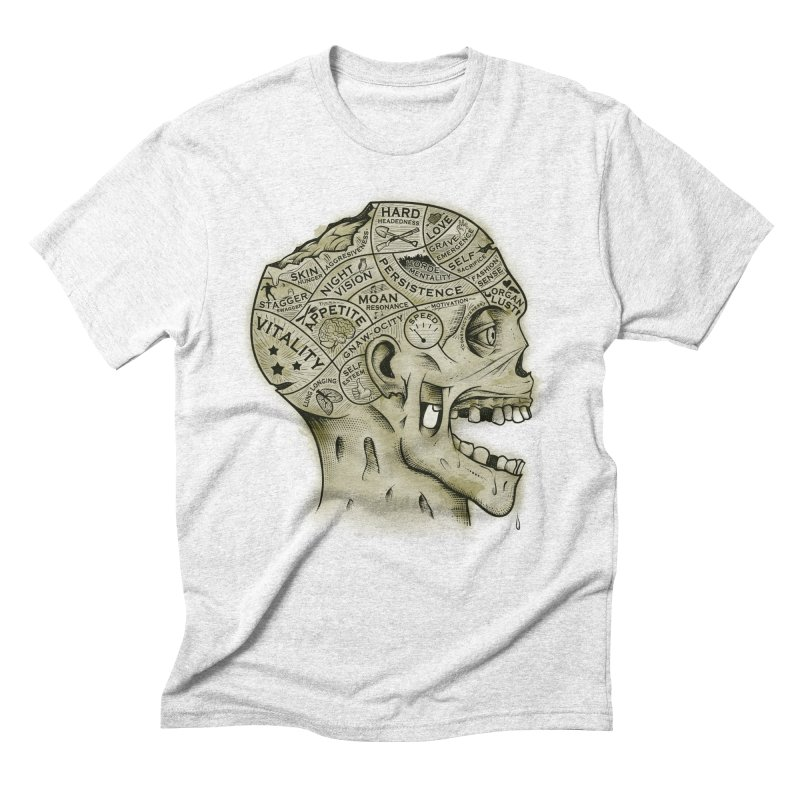 Zombie Phrenology Men's Triblend T-shirt by Andy Pitts Artist Shop
