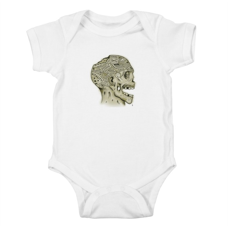 Zombie Phrenology Kids Baby Bodysuit by Andy Pitts Artist Shop
