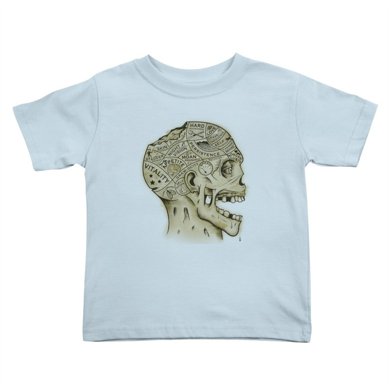 Zombie Phrenology Kids Toddler T-Shirt by Andy Pitts Artist Shop