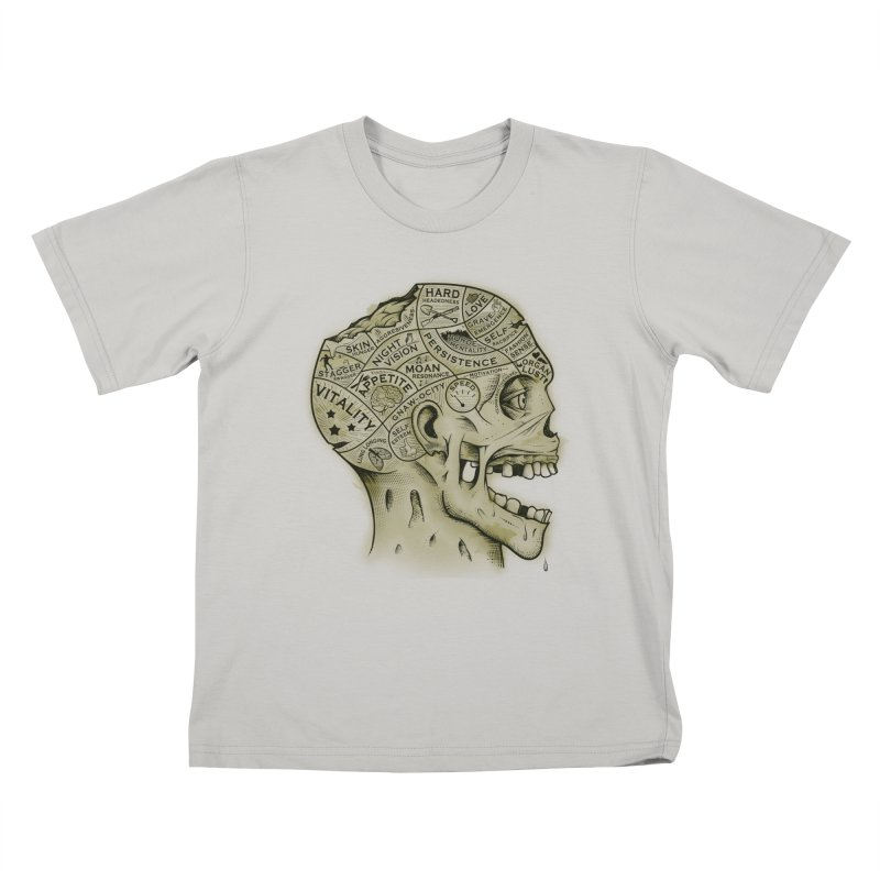 Zombie Phrenology Kids T-shirt by Andy Pitts Artist Shop