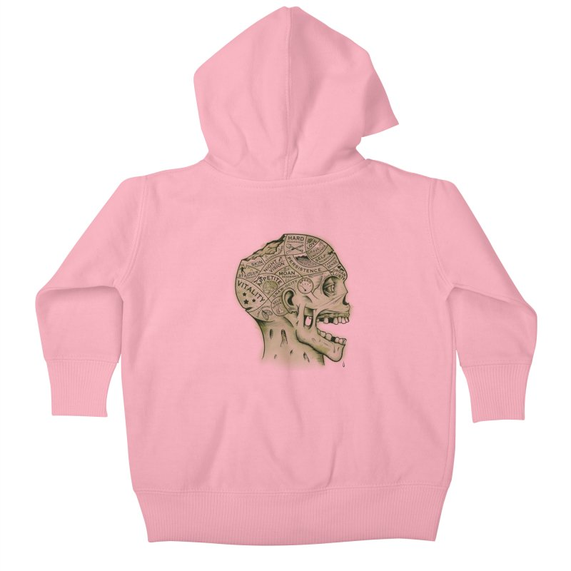 Zombie Phrenology Kids Baby Zip-Up Hoody by Andy Pitts Artist Shop