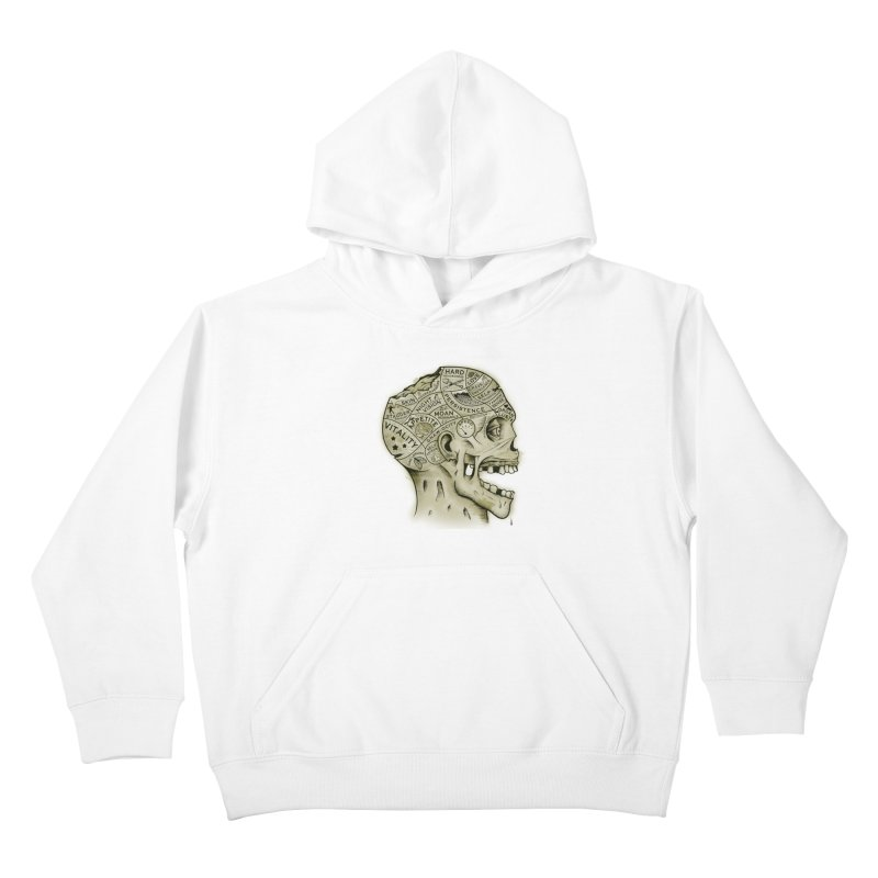 Zombie Phrenology Kids Pullover Hoody by Andy Pitts Artist Shop