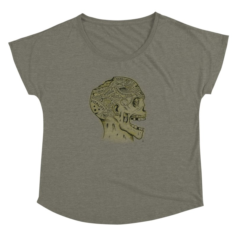 Zombie Phrenology Women's Dolman by Andy Pitts Artist Shop