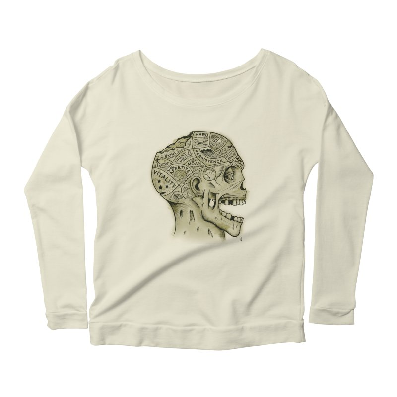 Zombie Phrenology Women's Longsleeve Scoopneck  by Andy Pitts Artist Shop