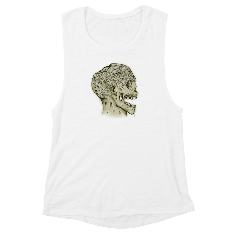 Zombie Phrenology Women's Muscle Tank by Andy Pitts Artist Shop