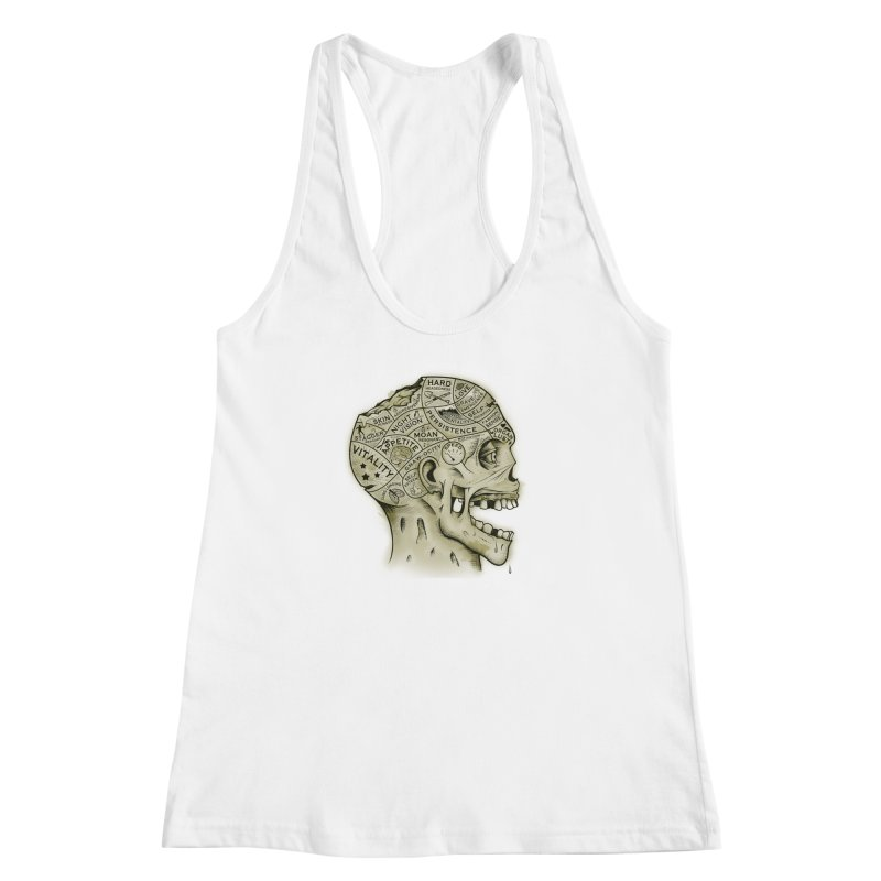 Zombie Phrenology Women's Racerback Tank by Andy Pitts Artist Shop