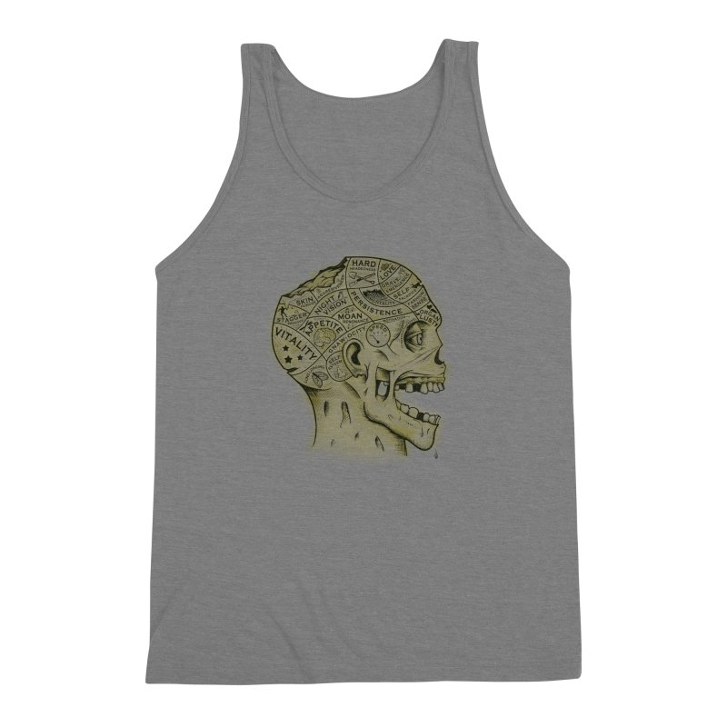 Zombie Phrenology Men's Triblend Tank by Andy Pitts Artist Shop