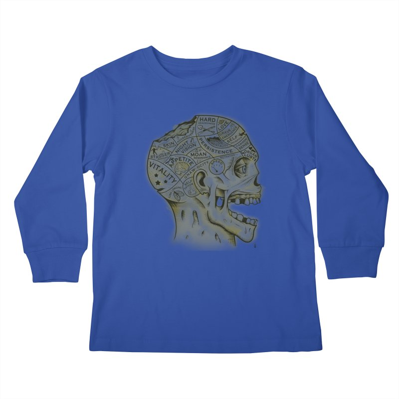Zombie Phrenology Kids Longsleeve T-Shirt by Andy Pitts Artist Shop