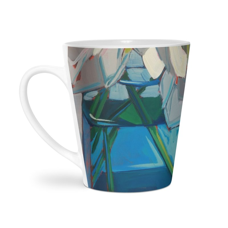 White Peonies Accessories Mug by Mónica Linares Artist Shop