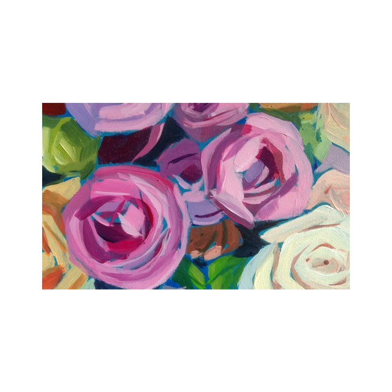 Purple Roses Art Mug Accessories Mug by Mónica Linares Artist Shop