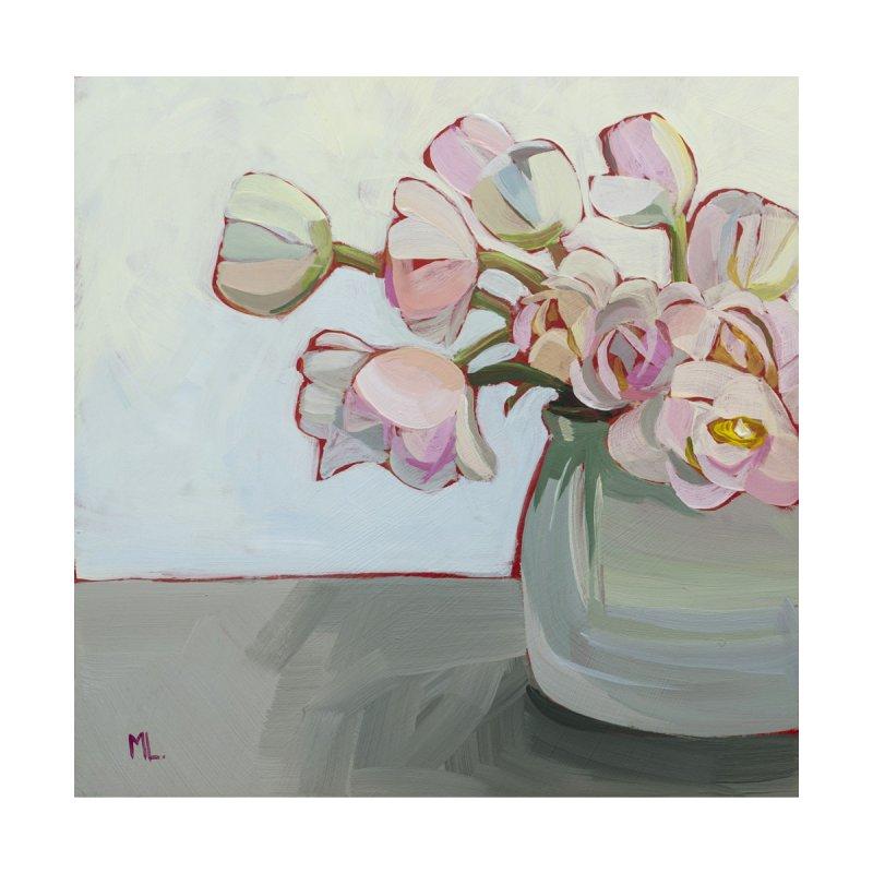White Tulips Art Mug Accessories Mug by Mónica Linares Artist Shop