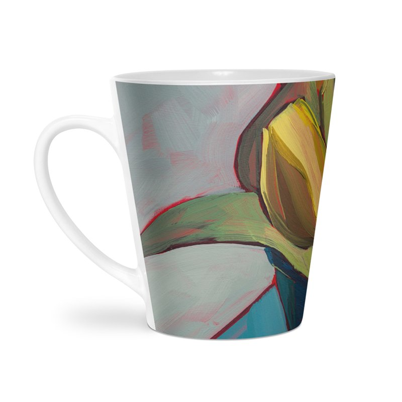 Yellow Tulips Art Mug Accessories Latte Mug by Mónica Linares Artist Shop