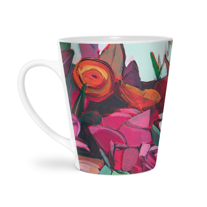 A Bunch of Flowers Art Mug Accessories Latte Mug by Mónica Linares Artist Shop