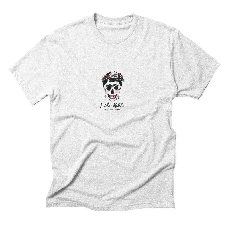 Frida Kahlo Logo Men's Triblend T-shirt by moniquemodern's Artist Shop