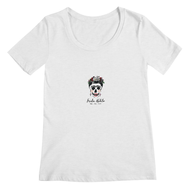 Frida Kahlo Logo Women's Scoopneck by moniquemodern's Artist Shop