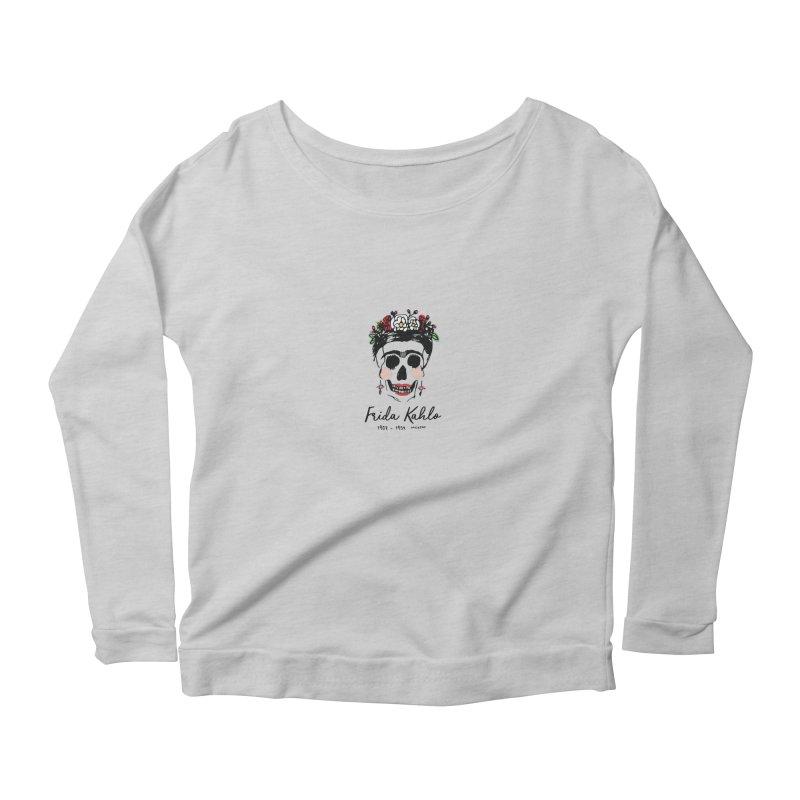 Frida Kahlo Logo Women's Scoop Neck Longsleeve T-Shirt by moniquemodern's Artist Shop