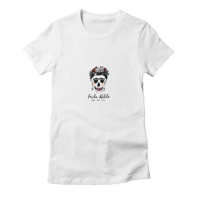 Frida Kahlo Logo Women's Fitted T-Shirt by moniquemodern's Artist Shop