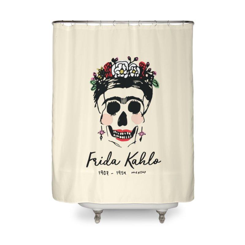 Frida Kahlo Logo Home Shower Curtain by moniquemodern's Artist Shop