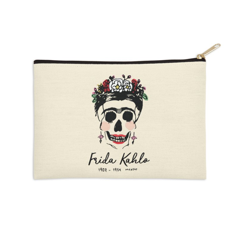 Frida Kahlo Logo Accessories Zip Pouch by moniquemodern's Artist Shop