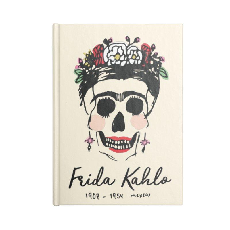 Frida Kahlo Logo Accessories Notebook by moniquemodern's Artist Shop