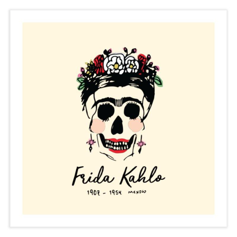 Frida Kahlo Logo Home Fine Art Print by moniquemodern's Artist Shop