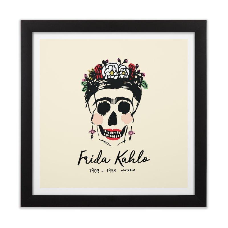 Frida Kahlo Logo Home Framed Fine Art Print by moniquemodern's Artist Shop