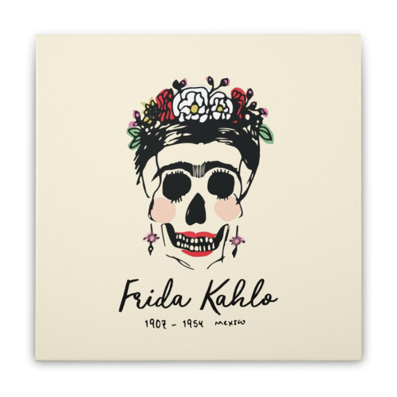 Frida Kahlo Logo Home Stretched Canvas by moniquemodern's Artist Shop