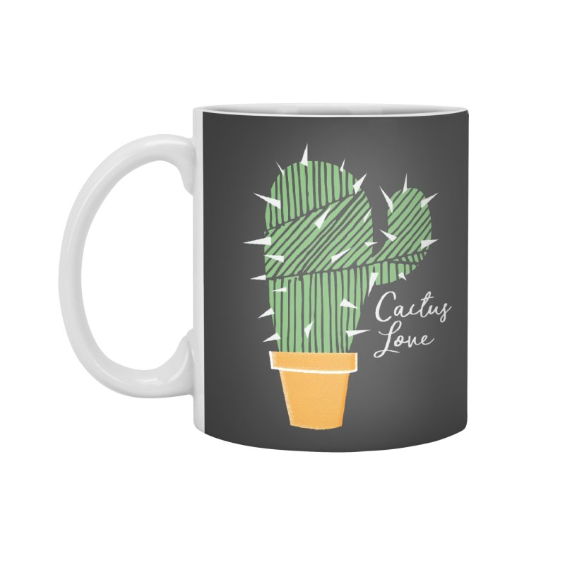Cactus Love Accessories Mug by moniquemodern's Artist Shop
