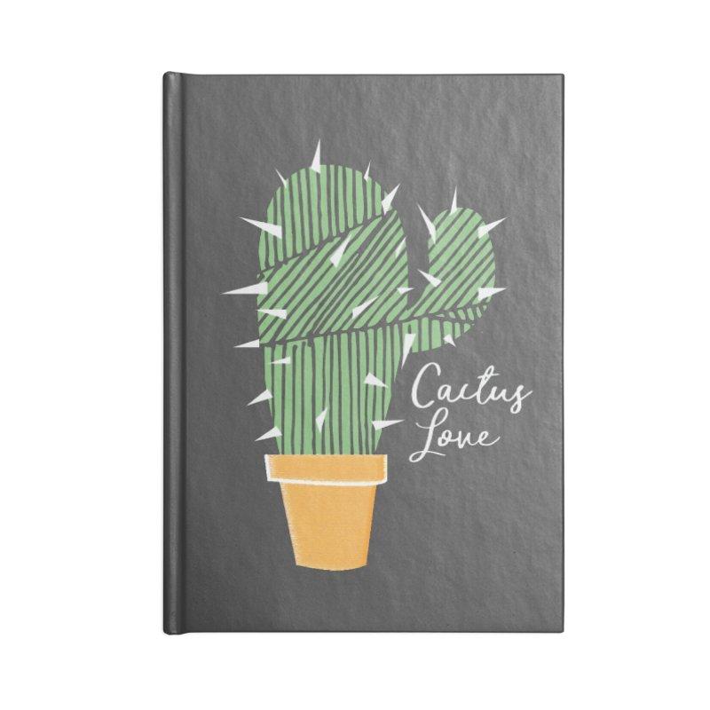 Cactus Love Accessories Blank Journal Notebook by moniquemodern's Artist Shop