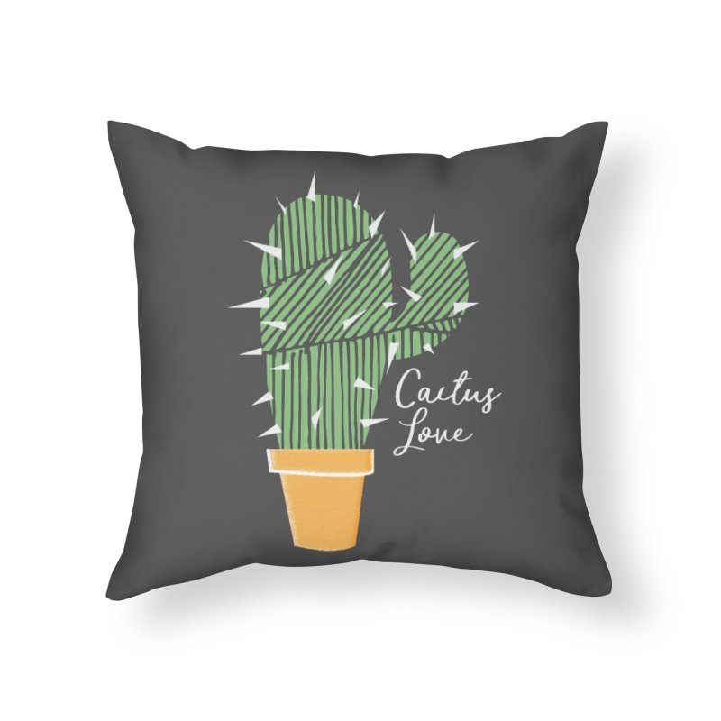 Cactus Love Home Throw Pillow by moniquemodern's Artist Shop