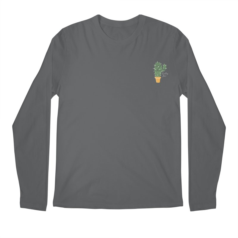 Cactus Love Men's Longsleeve T-Shirt by moniquemodern's Artist Shop