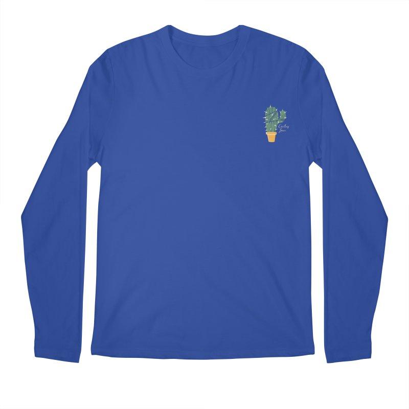 Cactus Love Men's Longsleeve T-Shirt by moniquemodern's Artist Shop