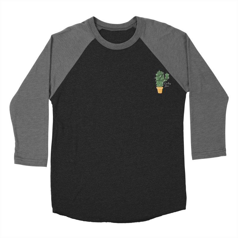 Cactus Love Men's Baseball Triblend T-Shirt by moniquemodern's Artist Shop