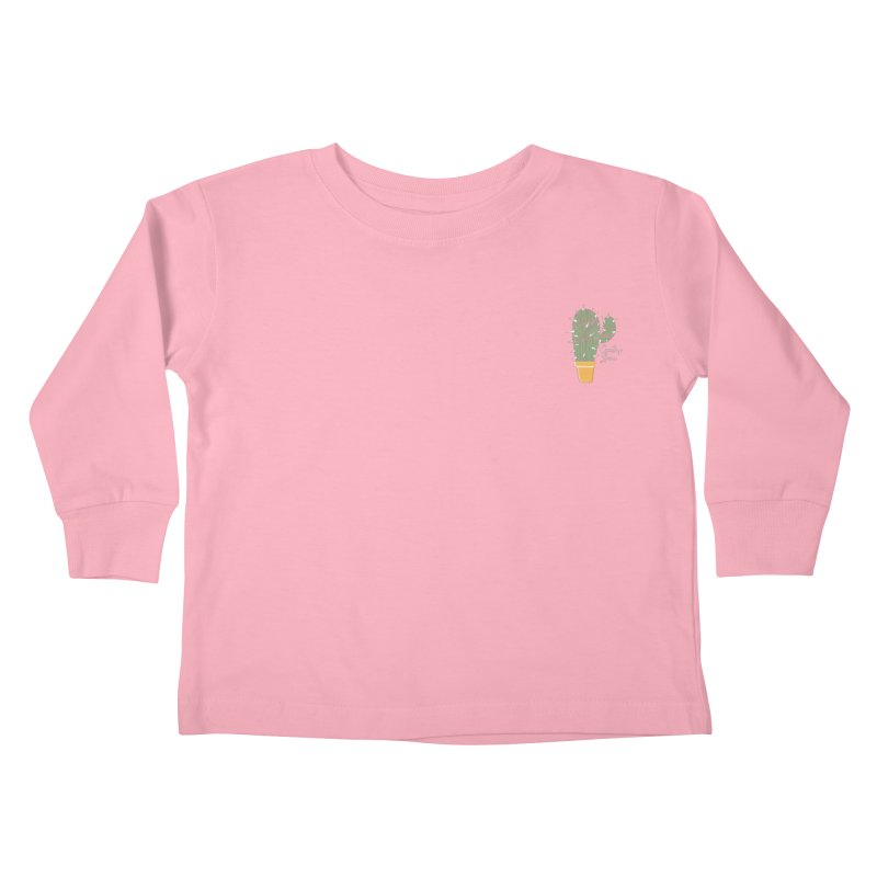 Cactus Love Kids Toddler Longsleeve T-Shirt by moniquemodern's Artist Shop