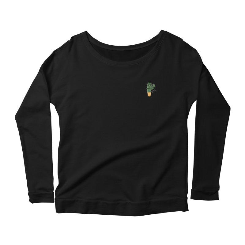 Cactus Love Women's Scoop Neck Longsleeve T-Shirt by moniquemodern's Artist Shop