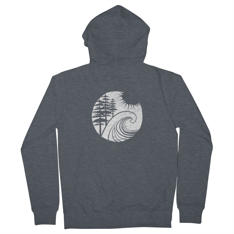 West Coast Wave Men's Zip-Up Hoody by moniquemodern's Artist Shop