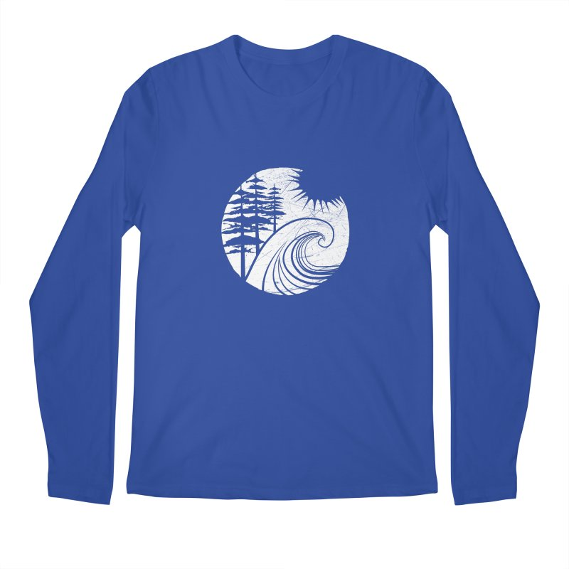 West Coast Wave Men's Longsleeve T-Shirt by moniquemodern's Artist Shop