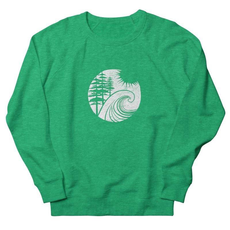 West Coast Wave Men's French Terry Sweatshirt by moniquemodern's Artist Shop