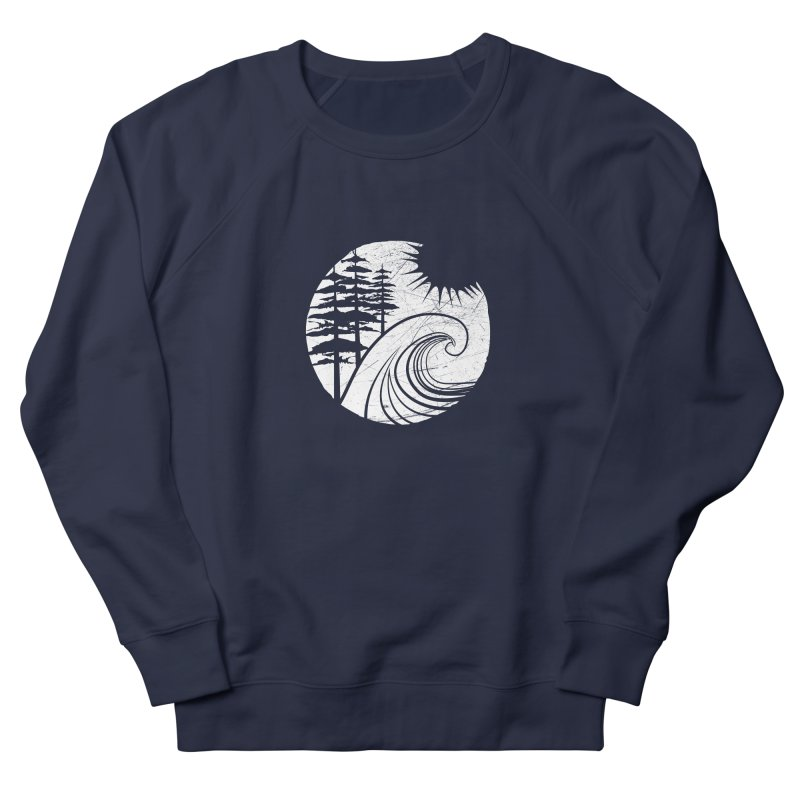 West Coast Wave Men's French Terry Sweatshirt by moniquemodern's Artist Shop