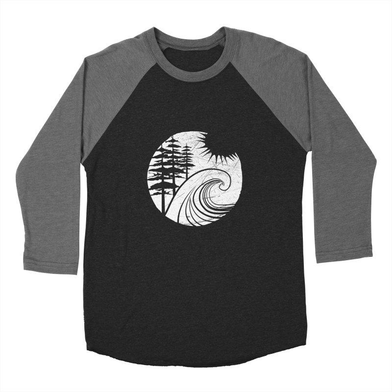 West Coast Wave Men's Baseball Triblend T-Shirt by moniquemodern's Artist Shop