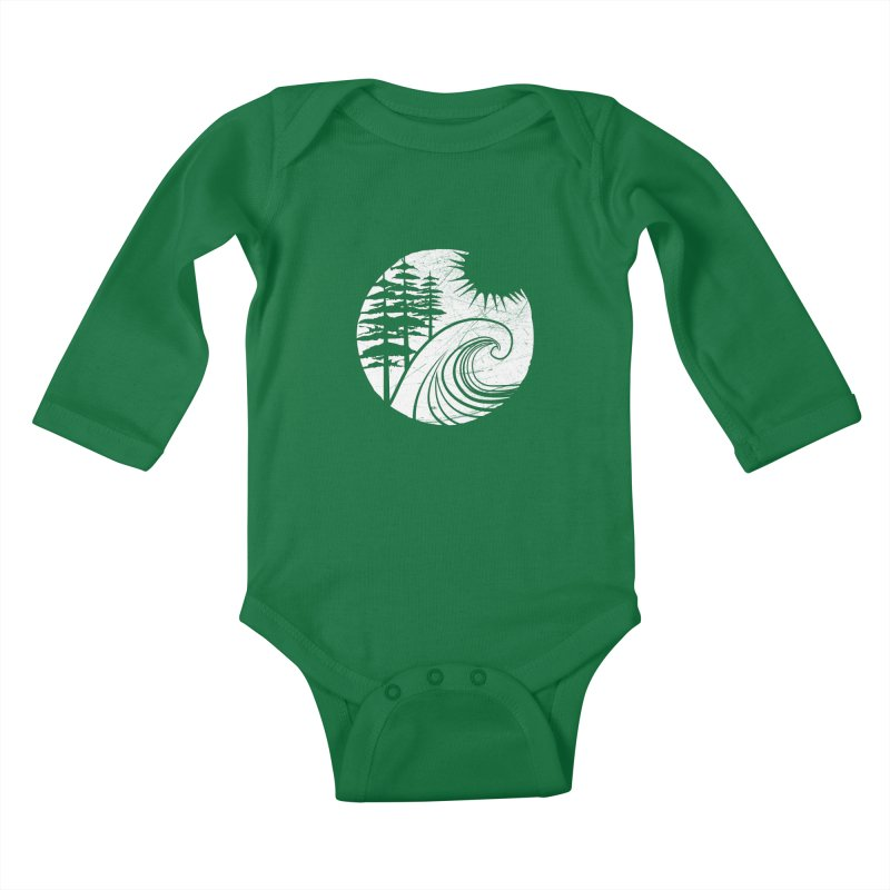 West Coast Wave Kids Baby Longsleeve Bodysuit by moniquemodern's Artist Shop