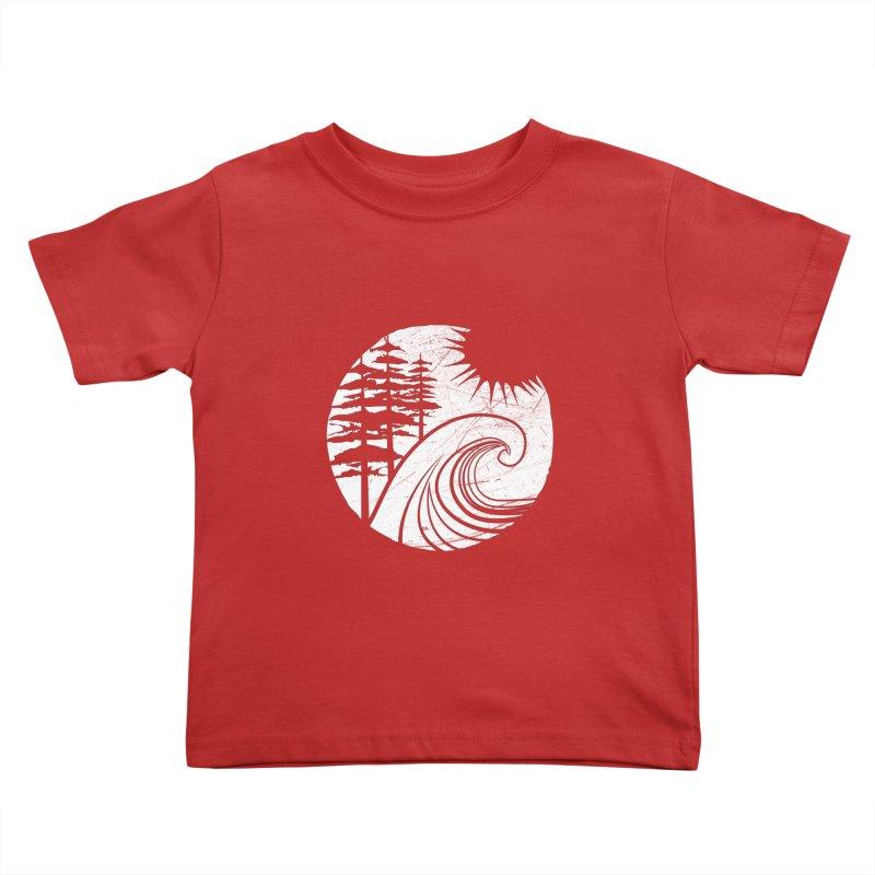 West Coast Wave Kids Toddler T-Shirt by moniquemodern's Artist Shop