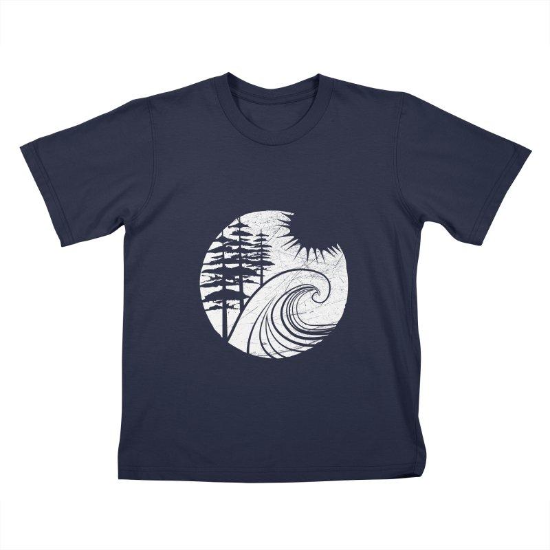 West Coast Wave Kids T-shirt by moniquemodern's Artist Shop