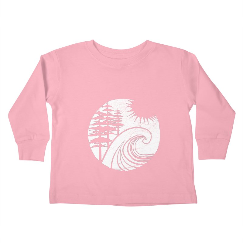 West Coast Wave Kids Toddler Longsleeve T-Shirt by moniquemodern's Artist Shop